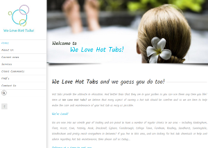 We Love Hot Tubs! website by EJC Websites