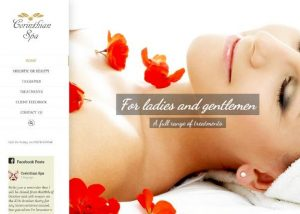 Corinthian Spa website by EJC Websites