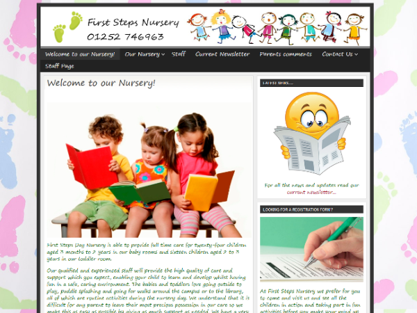 First Steps Nursery website from EJC Websites