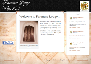 Panmure Lodge 723 website by EJC Websites