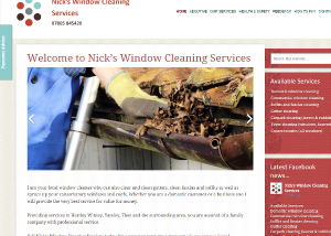 Nicks Window Cleaning Services website from EJC Websites