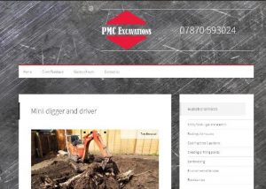 PMC Excavations website by EJCWebsites